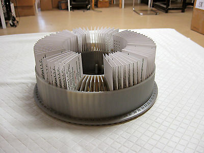 Business Card Holder  **UNIQUE** Re-purposed Slide Carousel - Hold 80 Cards