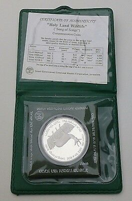 Israel 1992 Holy Land Wildlife Silver Proof Coin 2 NIS 28.8g