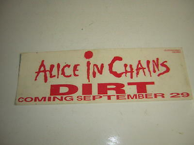 Alice In Chains Promo Window Decal Stick On Bumper Layne Staley Dirt 1993