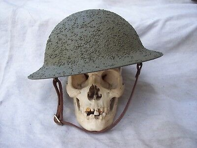 Ww1 Restored Brodie Helmet Whith New Liner/textured Finish
