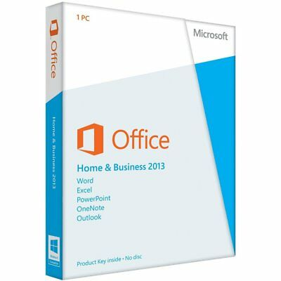Microsoft Office 2013 Home and Business. English. DVD Included.