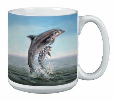 Dolphin Leaping Extra Large Mug, 20-Ounce Jumbo Ceramic Coffee Mug Cup,  Wildlif