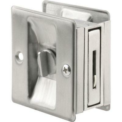 Prime Line Products N 7161 Pocket Door Privacy Lock With Pull, Satin Chrome