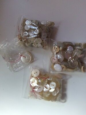 Large Lot Of Vintage Mother Of Pearl Buttons Good Condition