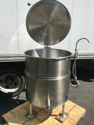Cleveland KEL60 60 Gallon Electric 2/3 Jacketed Steam Kettle (Exceptional Shape)
