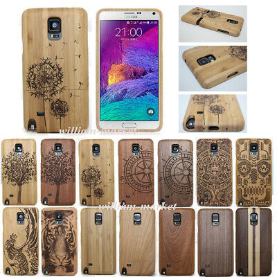 Genuine Natural Wood Bamboo Case Protect Cover for Samsung Note 5/S7 Edge/S8/S9
