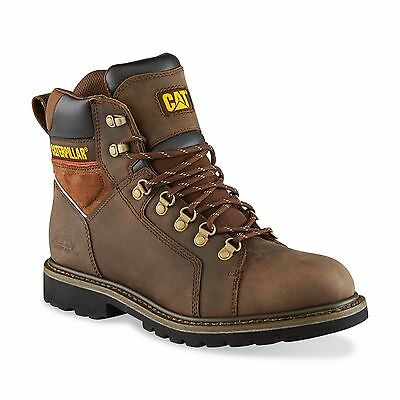 "Caterpillar P74054 Men's Trax 6"" Brown Waterproof Soft-Toe Work Boots Size 9"