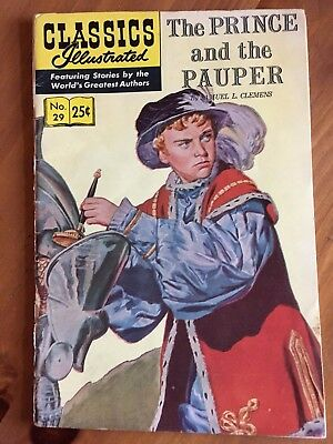Classics Illustrated #29 The Prince and the Pauper (Jun 1970, Gilberton)