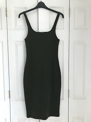 Zara Ladies Stretchy Fitted Dress In Green Size Medium Brand New!!