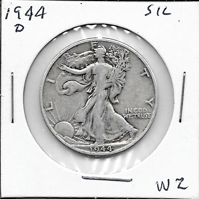 1944 D Walking Liberty Half Dollar - 90% SILVER