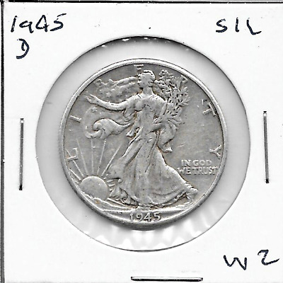 1945 D Walking Liberty Half Dollar - 90% SILVER