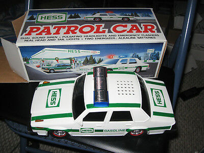 Vintage 1993 HESS TRUCK RESCUE VEHICLE Police Car Toy Vehicle complete with box