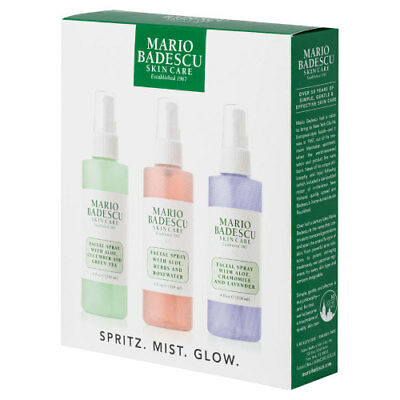 MARIO BADESCU Facial Spray Spritz Mist Glow Hydrating Cooling Soothing Setting