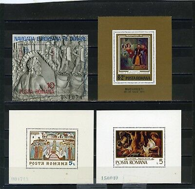 Romania Art/paintings Small Collection Set Of 4 S/s Mnh