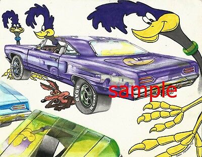 2 x Road runner Stickers decals  100mm x 100mm Any Use easy apply beep beep