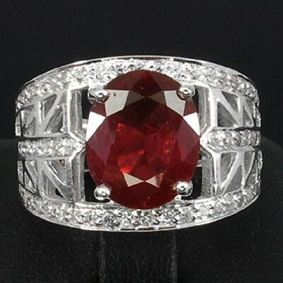 _LDN_Bague Rubis Blood Red  Saphir Blanc_Argent 925_T55