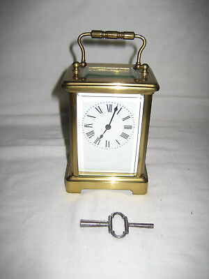 Antique Brass Carriage Clock by Richard & Cie, (R & C) Made in Paris. 19th C.