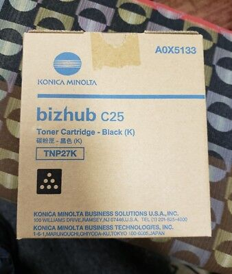 Konica Minolta A0X5133 Bizhub C25 Toner Cartridge-Black (C) TNP27K New-in-box