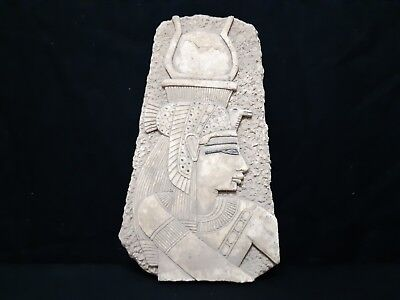Rare Antique Ancient Egyptian Craved Cleopatra Wall Fragment Relief 69-30 BC