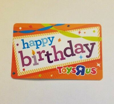 New Toys R Us Gift Card No Value Happy Birthday Party Collectible
