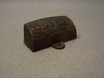 Architectural Salvage Antique Vintage Primitive Cast Iron Metal old DRAWER PULL