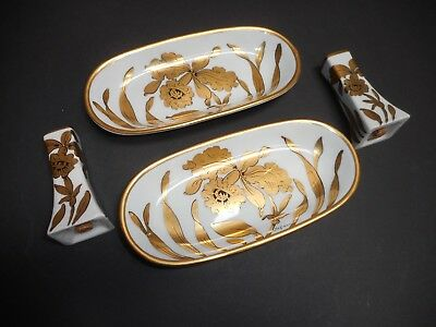 A Lot Of Handpainted Stouffer Studio Dishes Signed Regina/Rs Art Nouveau Period