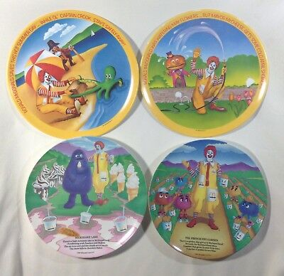 Vintage Mcdonald's Collector Plates 1977 & 1989 Lot of 4