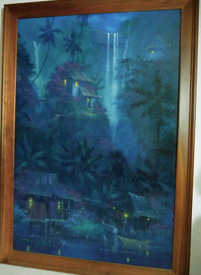 Original JAMES COLEMAN Oil Illustration (1998) HAWAII Midnight Dreams DISNEY