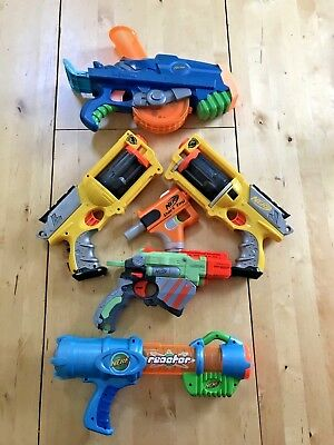 LOT OF 6 NERF GUNS - Excellent Condition and Deal with FREE SHIPPING
