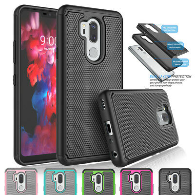 For LG G7 ThinQ Shockproof Armor Hybrid Rubber Rugged Impact Hard Case Cover