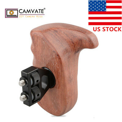 US CAMVATE Wooden Handgrip right side Hand for DSLR Camera Cage DV Video