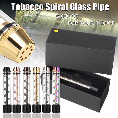 Tank 510 Tobacco Pipe Smoking Cigarette Cigar Glass Windproof Pipes Holder Gift