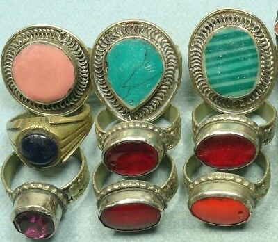 9 Gypsy Hand Made Older Rings From India