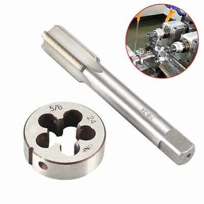 """5/8""""-24 Hand Tap and Round Die HSS Right Hand Thread Tapping Cutting Tool Kit US"""