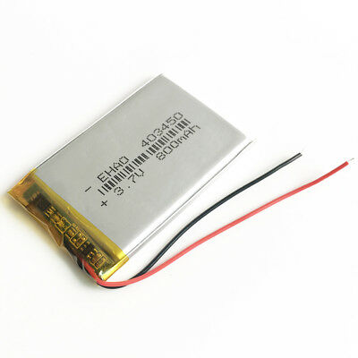 800mAh 3.7V Lipo polymer Battery Rechargeable For Mp3 Selfie stick PSP 403450