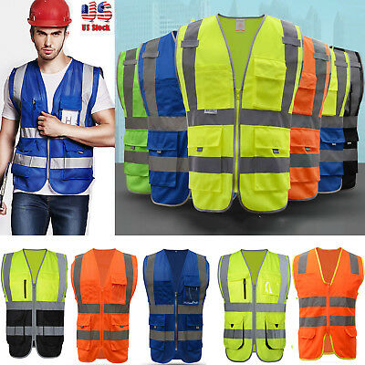 Safety Security Heavy Duty Visibility Reflective Vest Class Traffic Construction