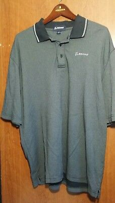 Boeing Polo Company Shirt Black Stripe Embroidered Airplane Logo