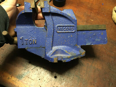 "Vintage Record 100mm/4"" Engineers Bench Vice 1TON"