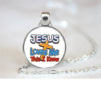 Christ Set Us Free PENDANT NECKLACE Chain Glass Tibet Silver Jewellery