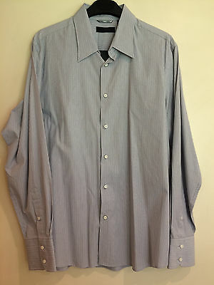NEW Blaq MYER Mens Formal Dress Shirt Size L Cotton Long Sleeves Business Grey