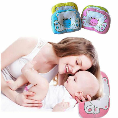 Soft Cotton New Pram Pillow Support Cushion Anti-Flat Head Crib Newborn Baby