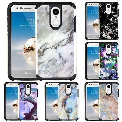 For LG Tribute Dynasty / LG Aristo 2 / Fortune 2 Marble Design Phone Case Cover