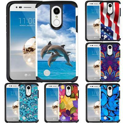 For LG Tribute Dynasty / LG Aristo 2 / Fortune 2 Dual Layer Hybrid Case Cover