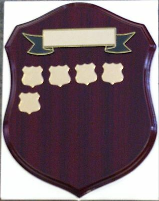 Perpetual Shield Trophy Plaque 280mm Timber (inc 20 Shields) Engraved FREE