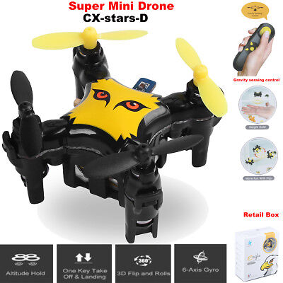 CX-stars-D Super Mini Drone 6-Axis Quadcopter Gravity Height Hold Flip One-Key