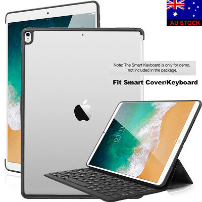 "For iPad Pro 12.9"" 2017 Case Slim Shell Clear Cover Compatible w/ Smart Keyboard"