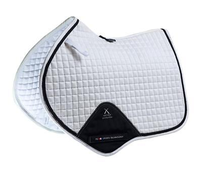 PEI Techno-Suede Close Contact Jump Saddle Pad - White with Black Binding