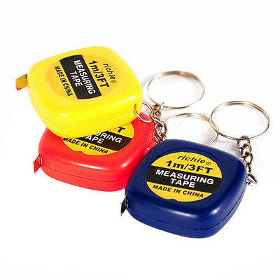 1Pc New Mini-steel Tape Key Ring Key Chain 1 meter Portable Measuring Too New