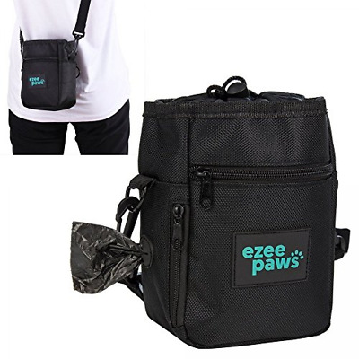 Ezee Paws Dog Walk and Treat Bag With Built-in Waste Poo Bags Dispenser include