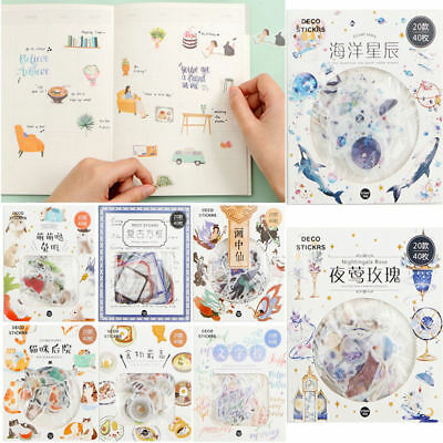 Cute DIY Paper PVC Sticker Diary Stickers Album Scrapbooking Notebook Decoration